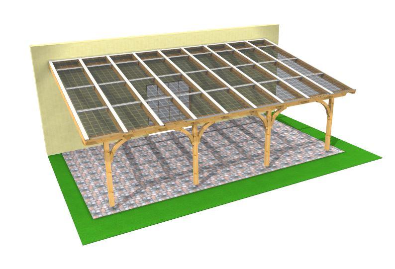 Solarterrassendach 3D Darstellung