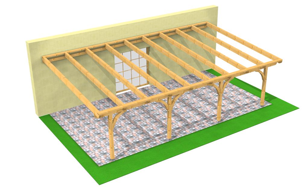 Solarterrassendach konstruktive Hölzer