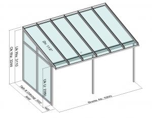 Terrassendach TerraSmart Elegant-Line mit Seitenwand