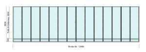 Terrassendach für Doppelhaus - Draufsicht