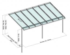 Terrassendach Elegant-Line auf erhöhter Terrasse