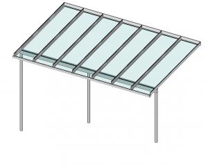 Terrassendach Elegant-Line auf erhöhter Terrasse Perspektive