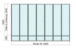 Terrassendach Elegant-Line auf erhöhter Terrasse Draufsicht