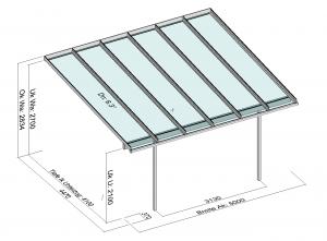 Terrassendach Elegant-Line mit extra langen Glasscheiben