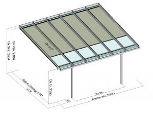 Terrassendach Elegant-Line mit T200 Unterglasmarkise