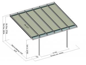 Terrassenüberdachung Elegant-Line mit T200 Unterglasmarkise