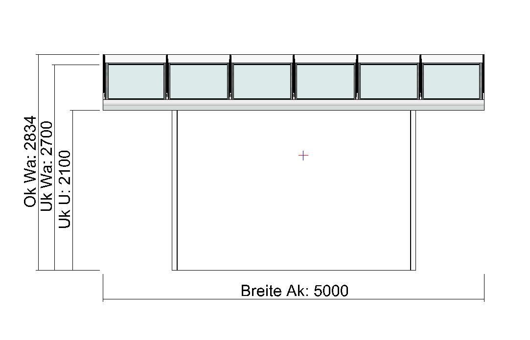Terrassendach Elegant-Line mit extra langen Glasscheiben Vorderansicht