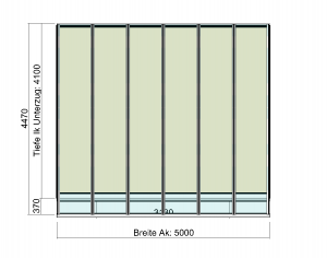 Terrassenüberdachung Elegant-Line mit T200 Terrassendach-Innenbeschattung