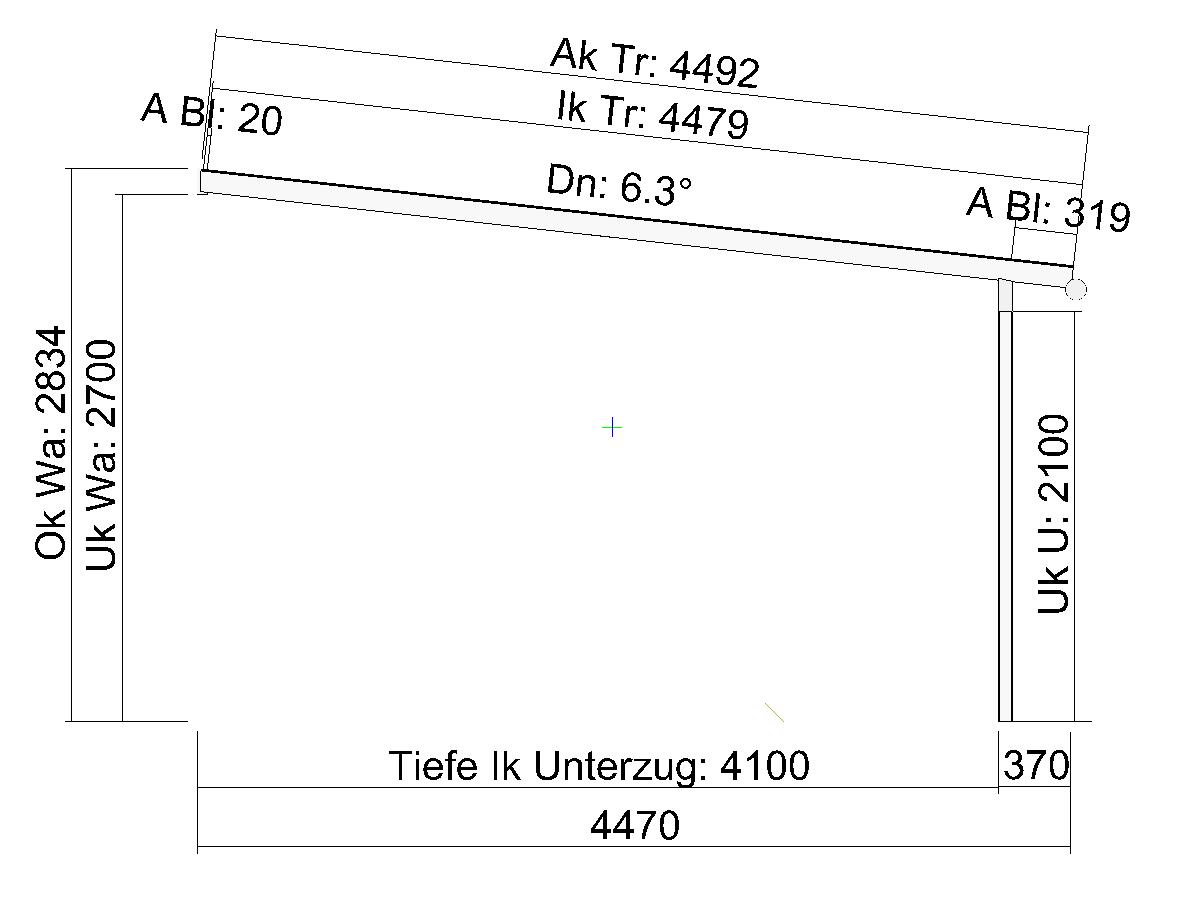 Terrassendach Elegant-Line mit extra langen Glasscheiben Seitenansicht