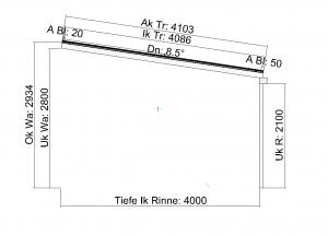Kombination Textil- und Glasterrassendach Seitenansicht