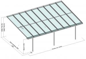 grosses Terrassendach TerraSmart Elegant-Line Perspektive