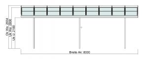grosses Terrassendach TerraSmart Elegant-Line Vorderansicht