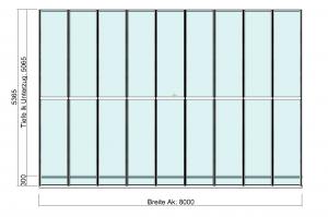 grosses Terrassendach TerraSmart Elegant-Line Draufsicht