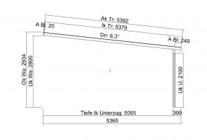 grosses Terrassendach TerraSmart Elegant-Line Seitenansicht