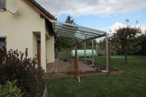 Terrassendach Classic-Line mit Dachsparrenbefestigung