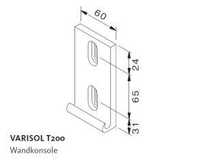 Wandkonsole Varisol T200