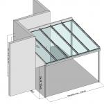 Terrassenueberdachung mit seitlichem Überstand