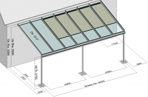 Terrassendach Classic-Line mit Markise
