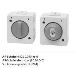 Aufputz-Schalter zur Markisensteuerung