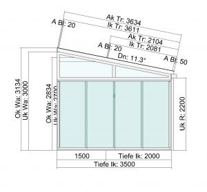 Terrassendach mit Seitenelementen