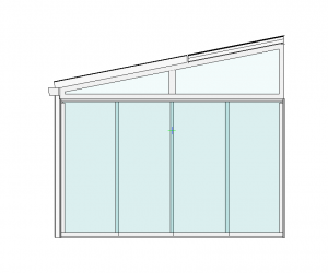 Terrassendach mit Seitenelementen Seitenansicht