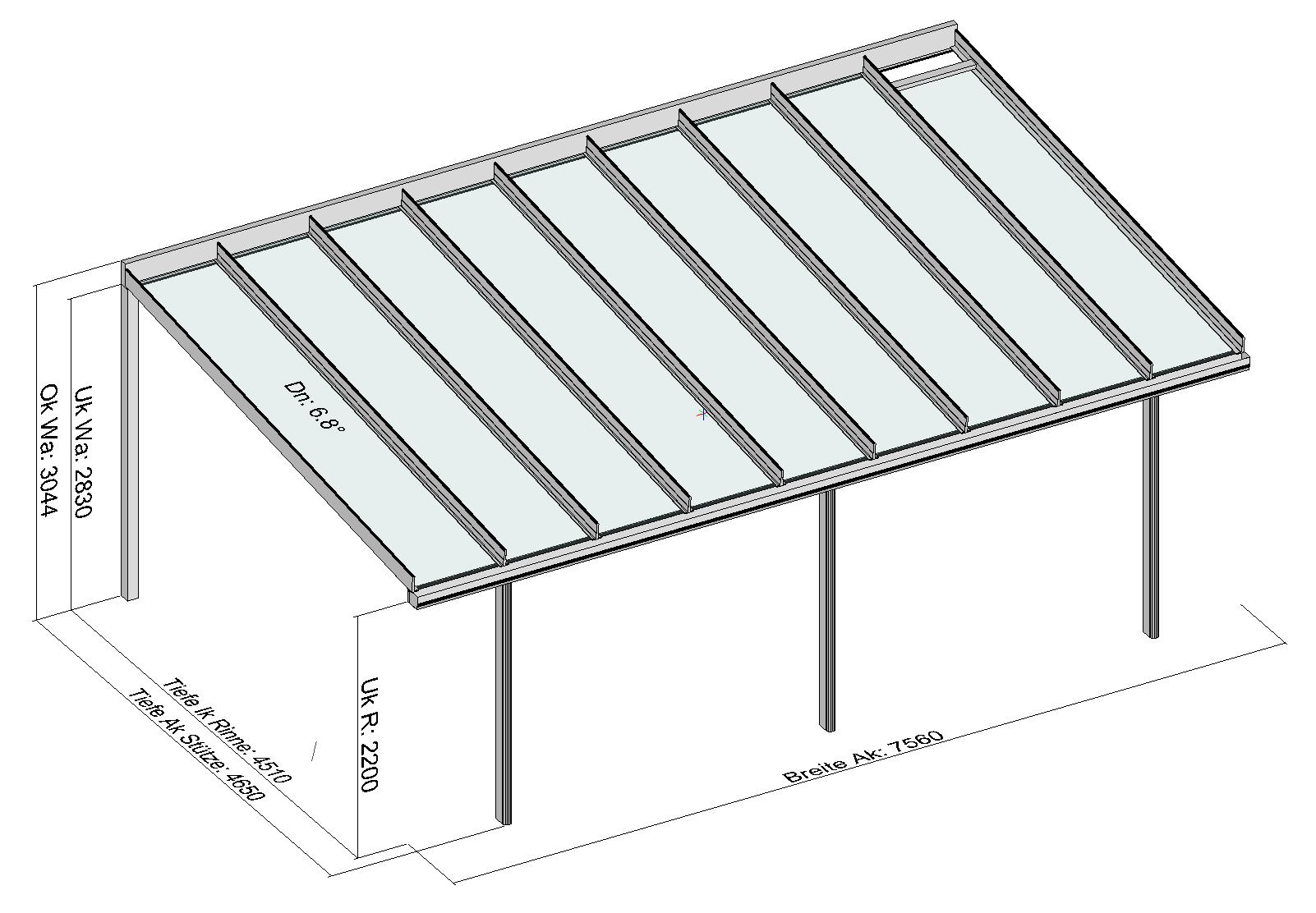 Terrassendach TerraSmart Classic-Line mit langen Glasscheiben
