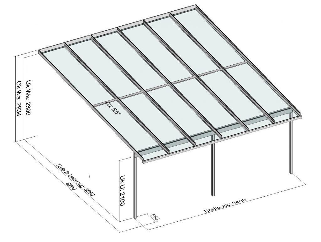 Terrassendach TerraSmart Elegant-Line mit 6,2 Meter Gesamttiefe