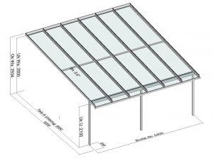 Terrassendach Elegant-Line mit grosser Tiefe