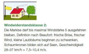 Windwiderstandsklasse 2