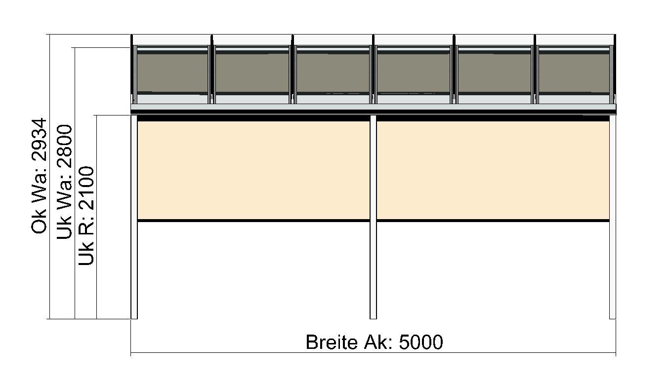 Terrassendach mit 2 Markisen