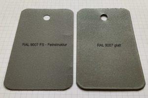 RAL 9007 FS und glatt