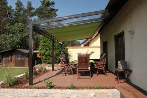 Markisen FAQ Terrassendach mit Markise Trend 200 als 1-Feldanlage