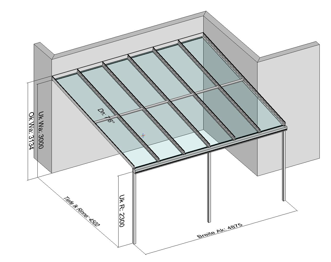 Terrassendach planung zeichnungen for Sideboard um die ecke