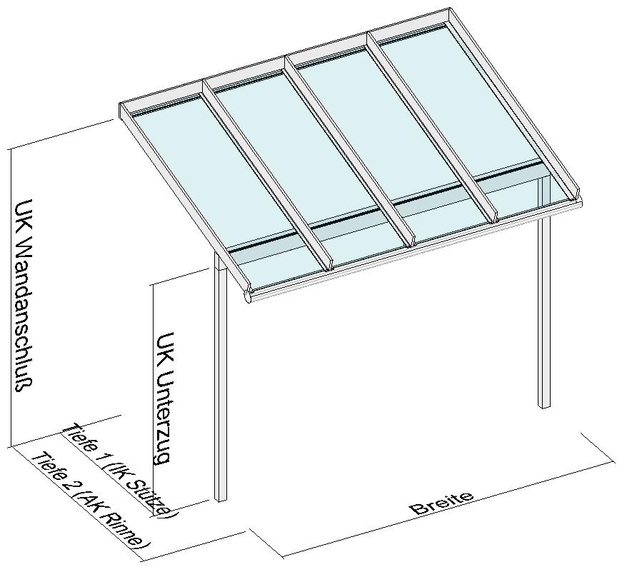 Baden - Elegant-Line als Vordach